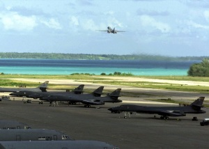 B-1 Bombers on Diego Garcia -- Phillip Wood Malaysia Airline MH-370