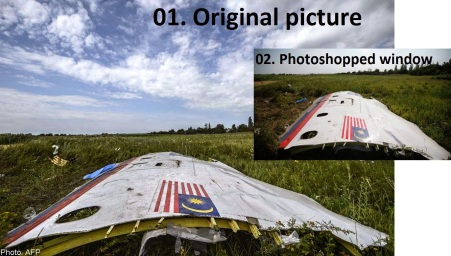 original and photoshoped mh17 mh370a