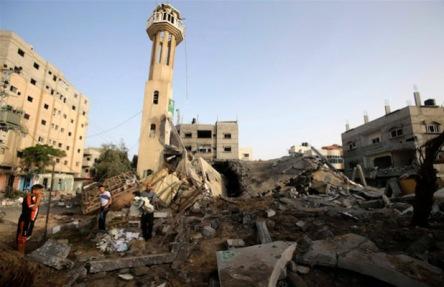 Palestinian-mosque-Israeli-airstrike