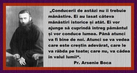 Cuvinte Profetice Parintele Arsenie Boca