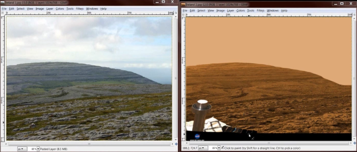 Image result for image of robot on Mars filmed in Ireland